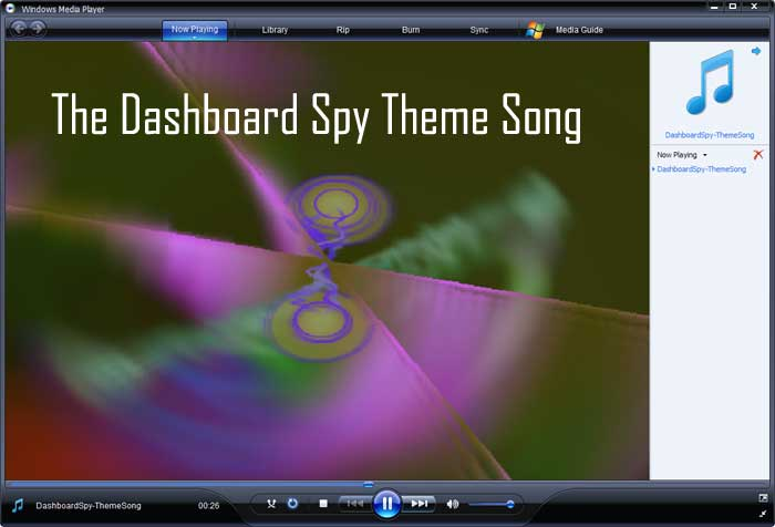 Dashboard Spy Theme Song